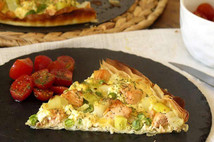 Una tarta facil de hacer con salmon